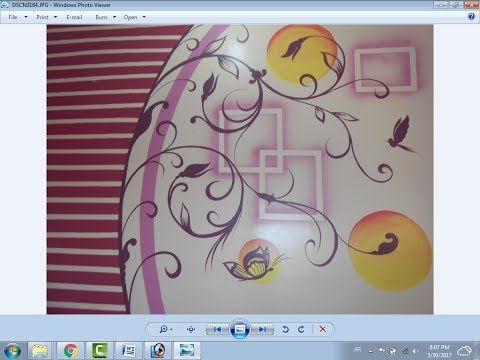 رسم استنسل مع دوائر Youtube Art Wall Design Character