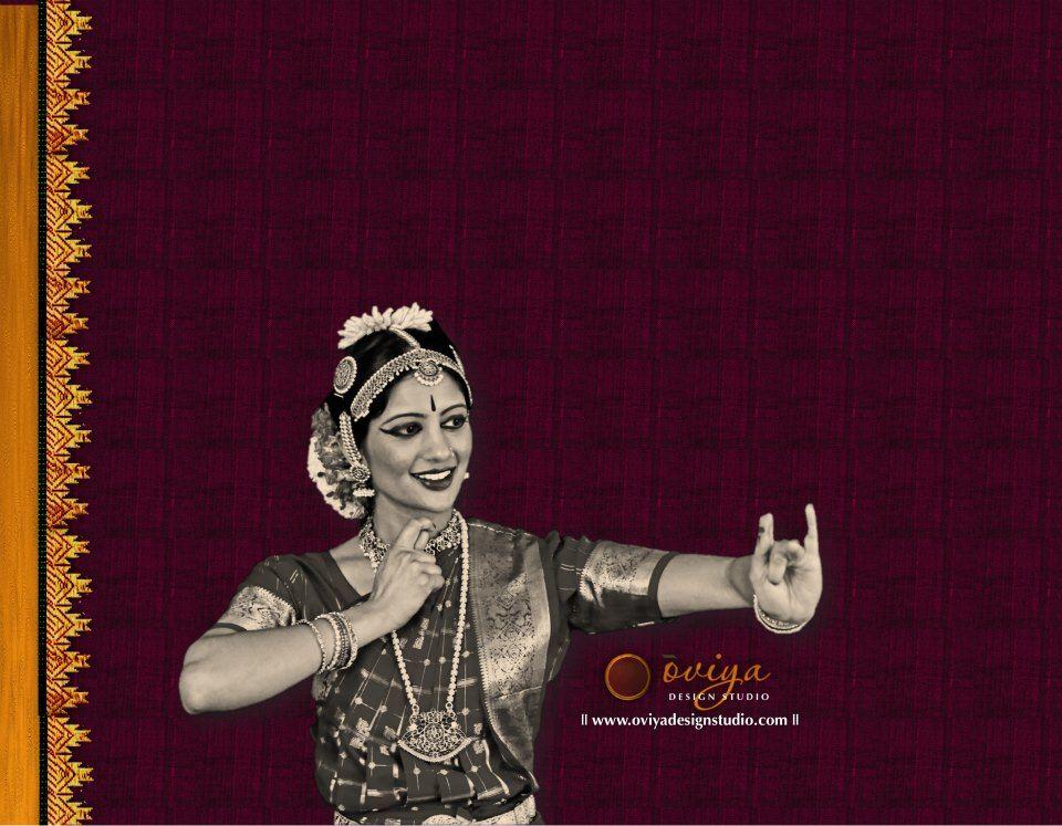 Portfolio ōviya Design Studio Arangetram Back Cover Design Indian Classical Dance
