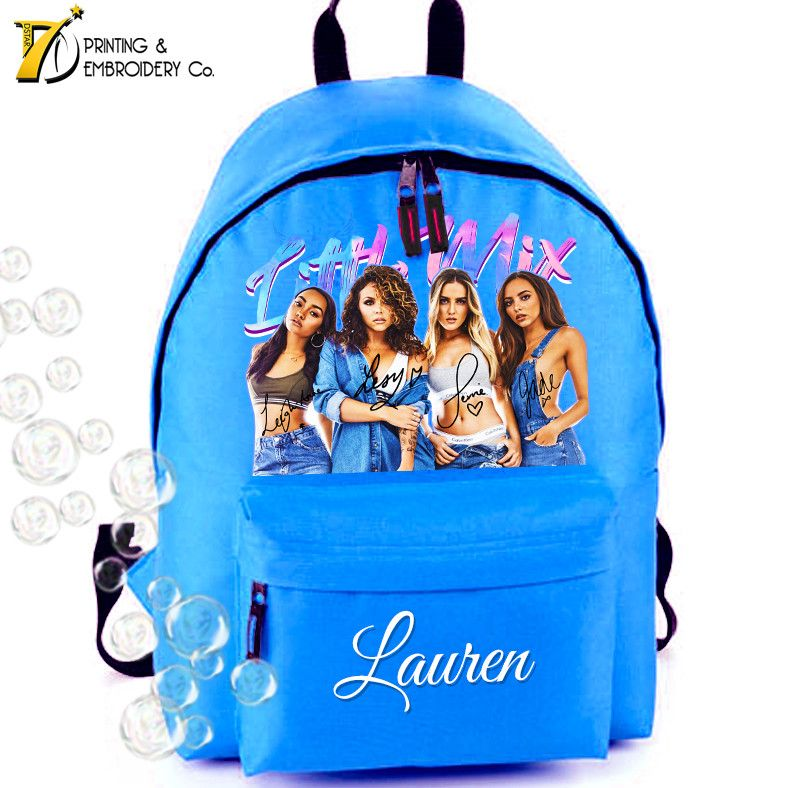 Little Mix Water Colour Personalised School Backpack