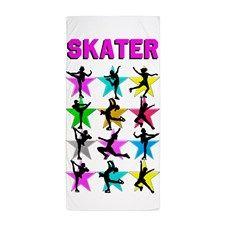 FIERCE ICE SKATER Beach Towel http://www.cafepress.com/sportsstar/10189550 #Ilovefigureskating #Iceprincess #Figureskater #IceQueen #Iceskate #Skatinggifts #Iloveskating #Borntoskate #Figureskatinggifts #PersonalizedSkater