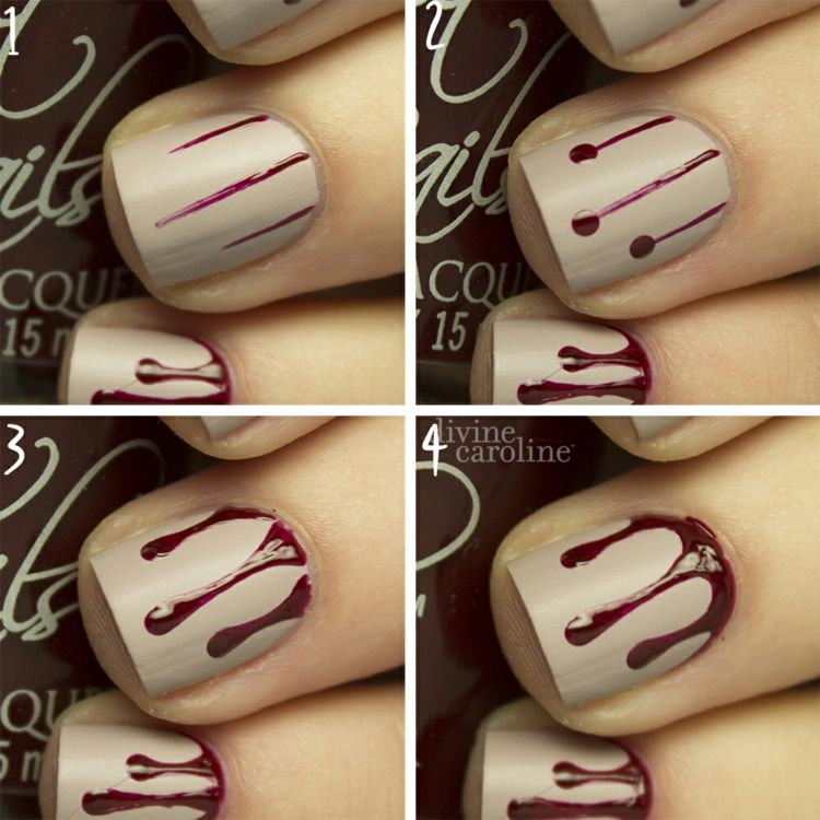 diy halloween ngel 6 einfache anleitungen fr motive und muster anleitungen einfache - Muster Fur Nagel