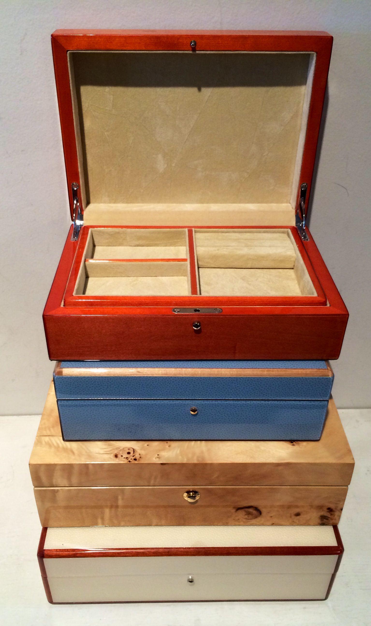 Tizo Italian Wood Jewelry Boxes These elegant wooden boxes are