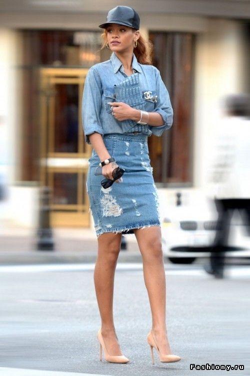 фото джинсовые юбки
