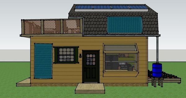 Misty robinson 39 s 16x25 off grid house simple solar for 400 square foot house