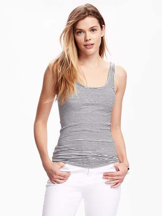 b90e64d1b0 First-Layer Fitted Rib-Knit Tank for Women Old Navy Outfit Price Total    27.94