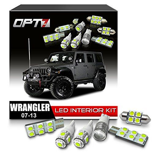 Opt7 Interior Jk Jeep Wrangler White Led Replacement Light Bulbs