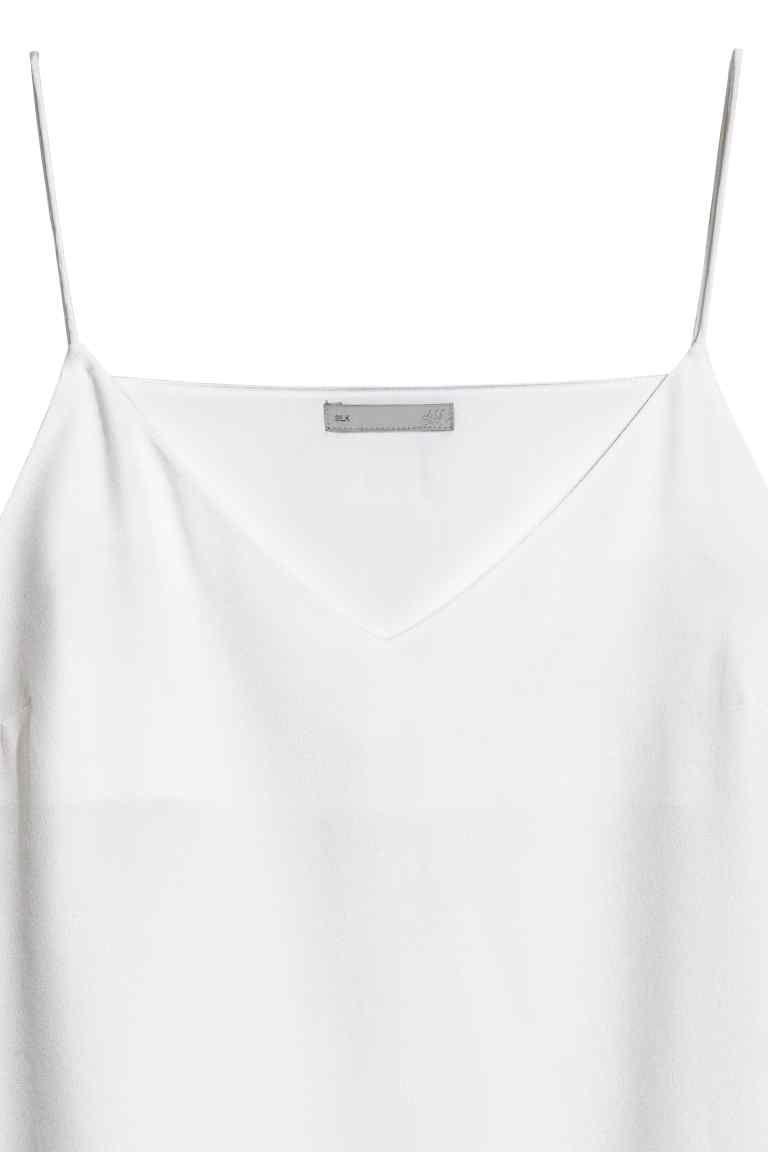 c9c9569c0d36d Silk strappy top - White - Ladies