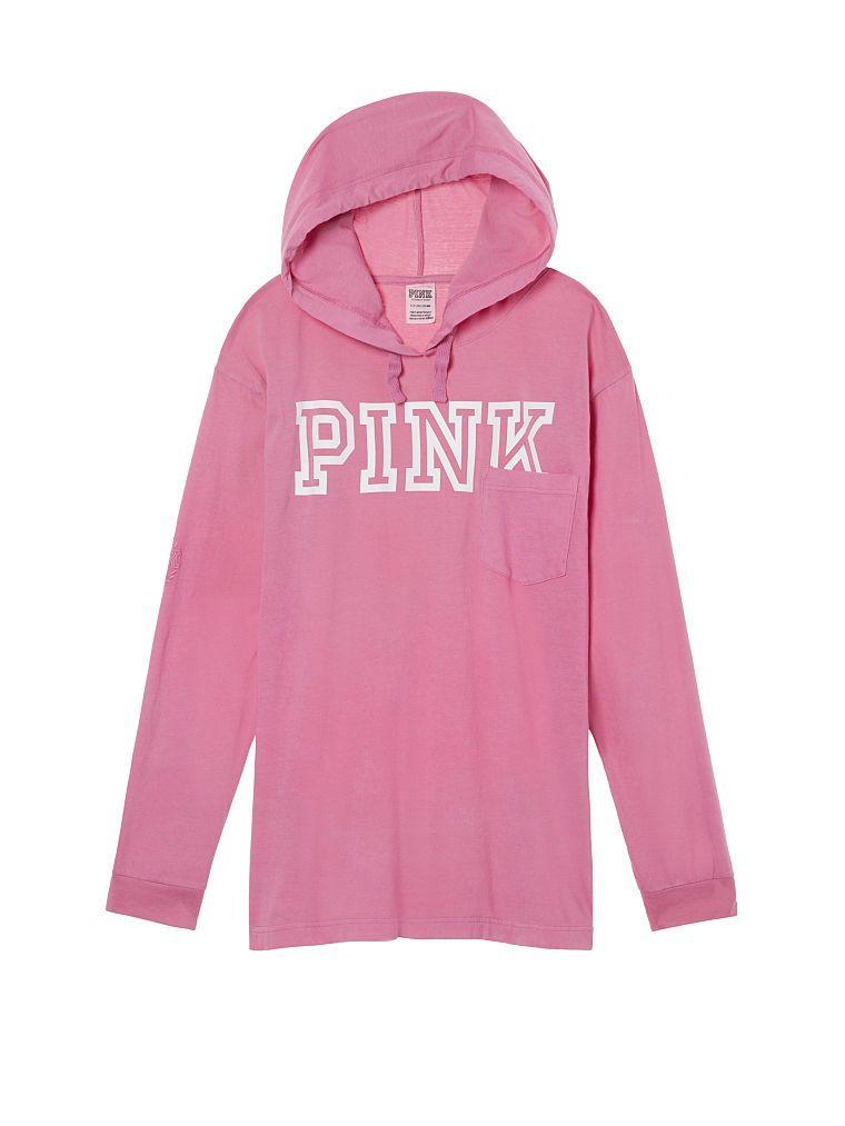 Victorias Secret Pink Campus Hoodie Tee