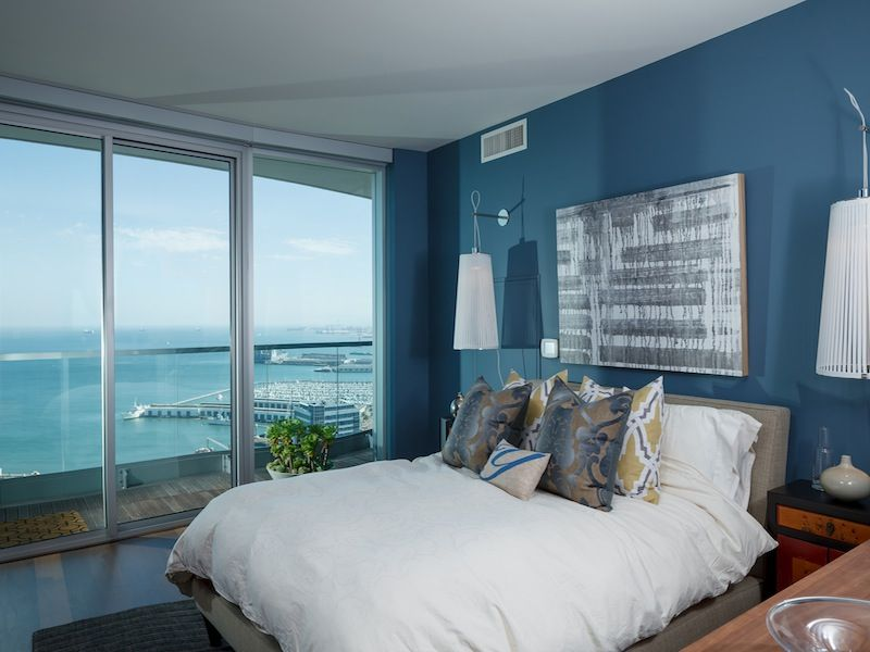 Best Bedroom Contemporary Blue Bedroom With Master Bed With 400 x 300