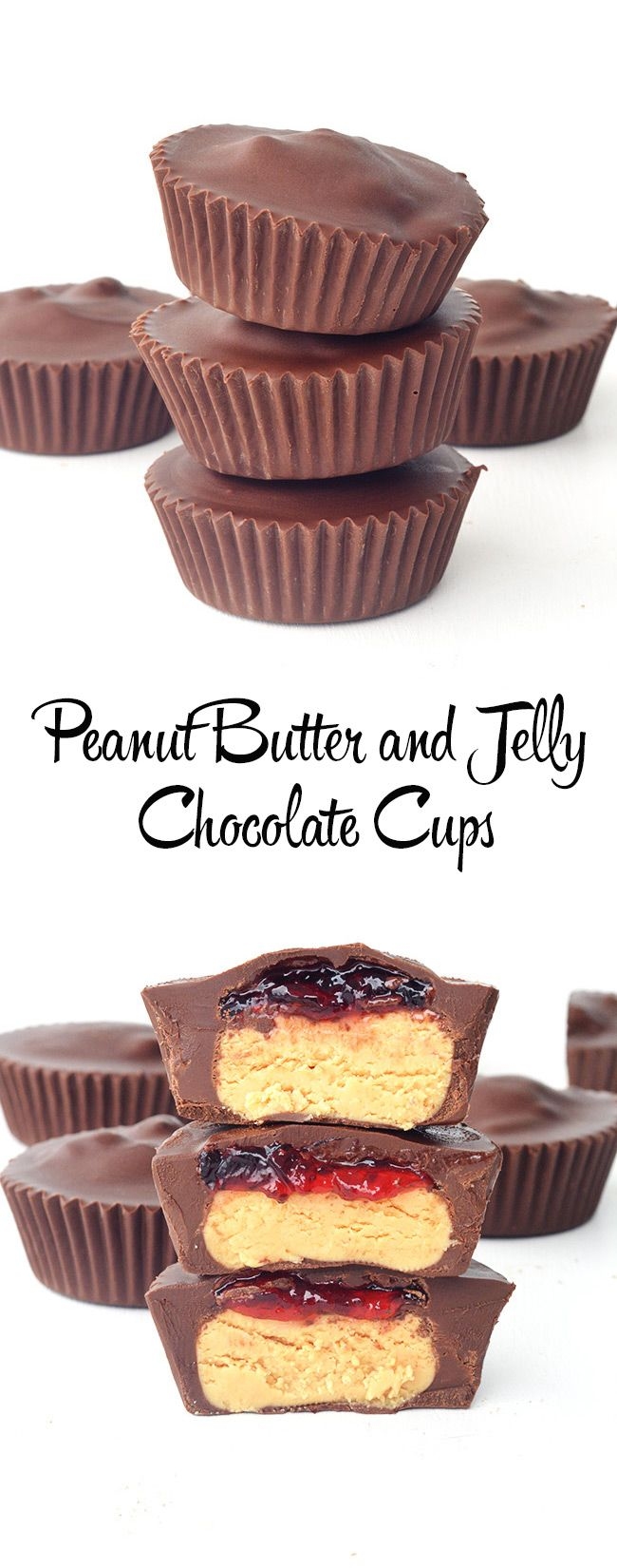 Peanut Butter and Jelly Chocolate Cups - Sweetest Menu