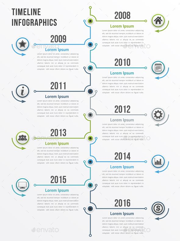 vertical timeline infographics template psd  vector eps  ai illustrator
