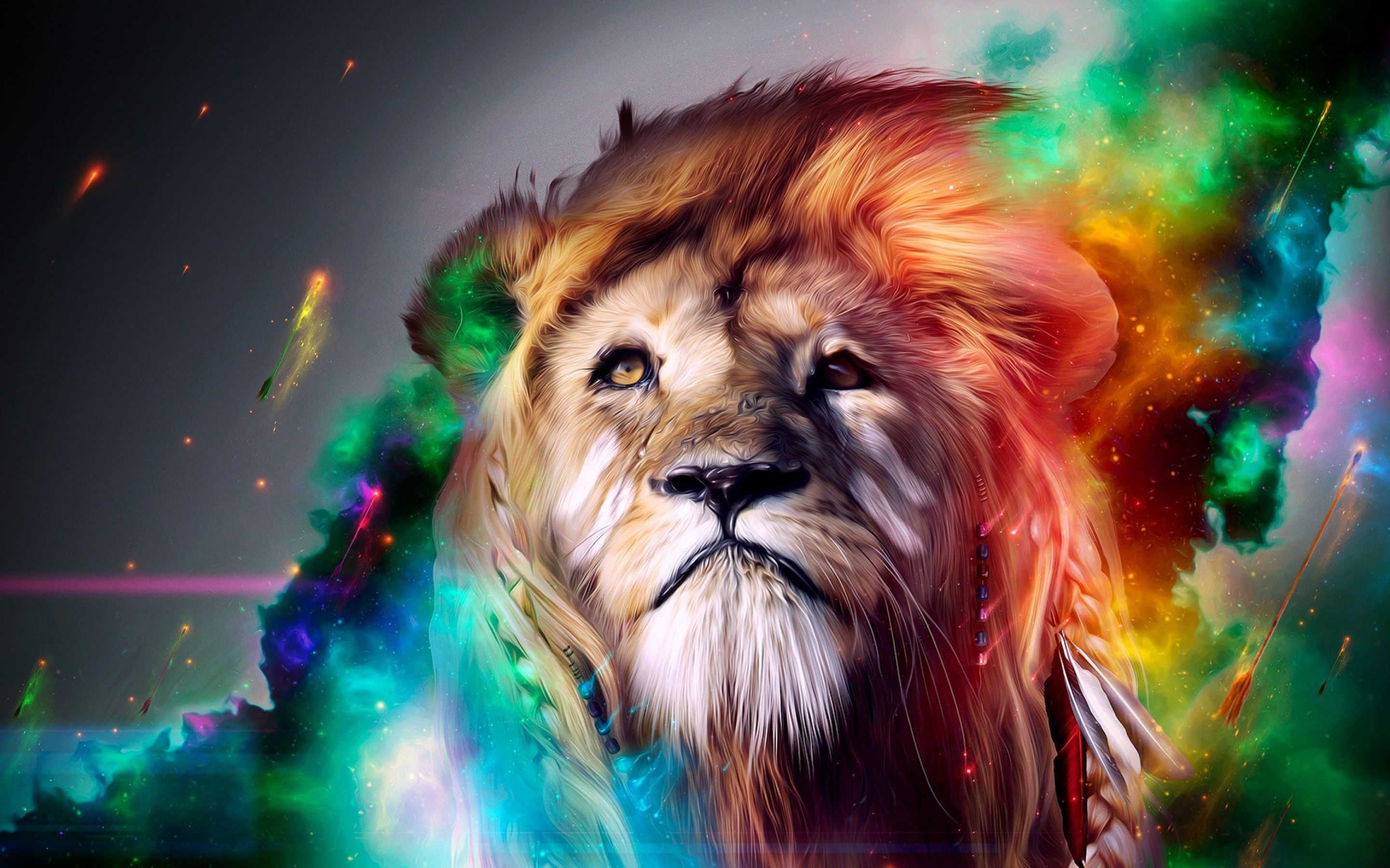 Lion 3d Graphics Hd Desktop Wallpaper Abstract Lion Lion Wallpaper Lion Hd Wallpaper