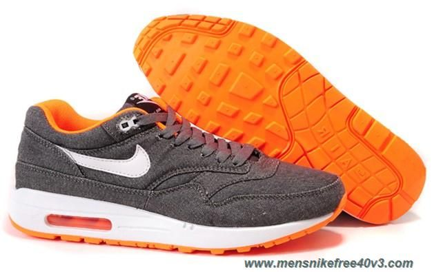 low priced 4f5a7 87623 Denim Cool Grey White Total Crimson Shoes Nike Air Max 1 512033-016 Womens  Online