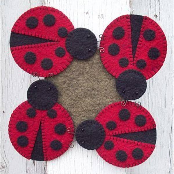 Wool Felt Central - Wool Felt Patterns #leppäkerttu #huopa #eläin #kevät #syksy #kesä #lasinalunen