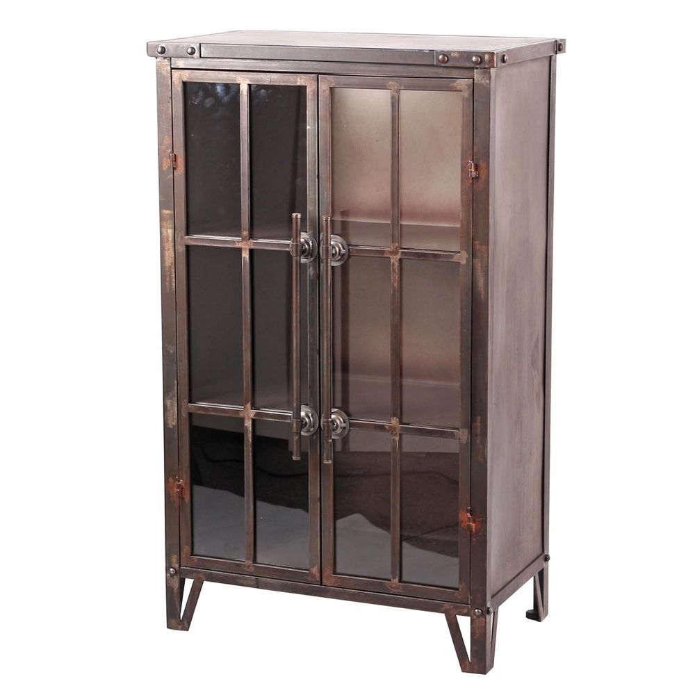 glass cabinet wishbone metal home design