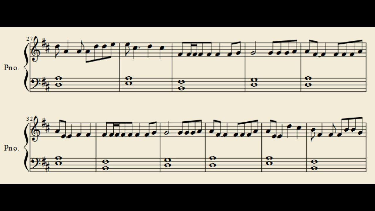 how to translate piano to guitar