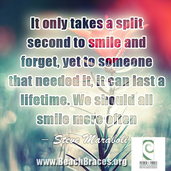 "Braces Quotes: Beach Braces Smile Quote #27 ""It Only Takes A Split Second"