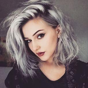 Silver Hair Young Women