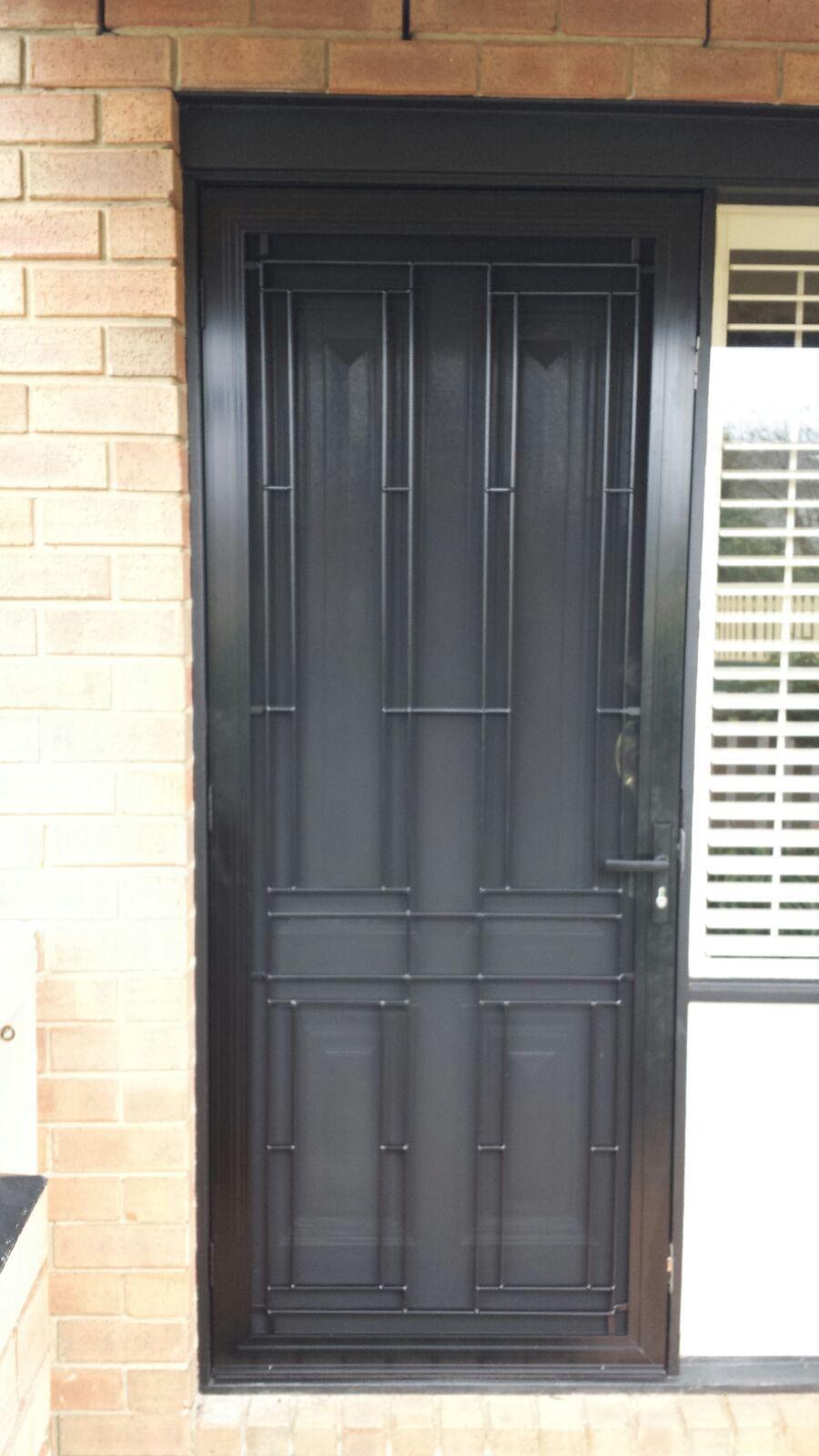 Steel Security Door With Stainless Steel Mesh Installed In Mordialloc Stainless Steel Mesh Mesh Door Steel Mesh