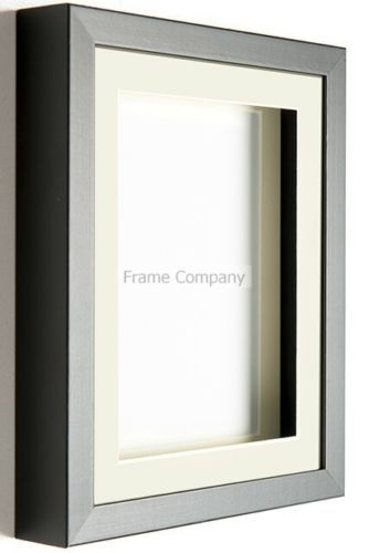 Black or White Wooden Picture Photo 3D Box Frames with Mounts By ...