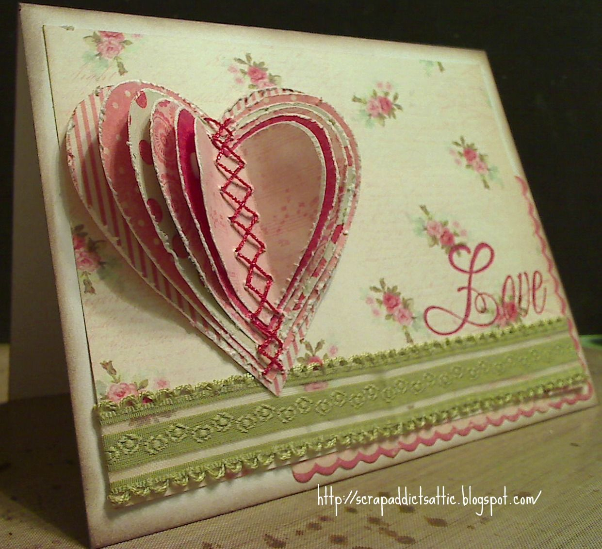 Scrap Addict S Attic 3d Love Hearts Love Heart Saint Valentine
