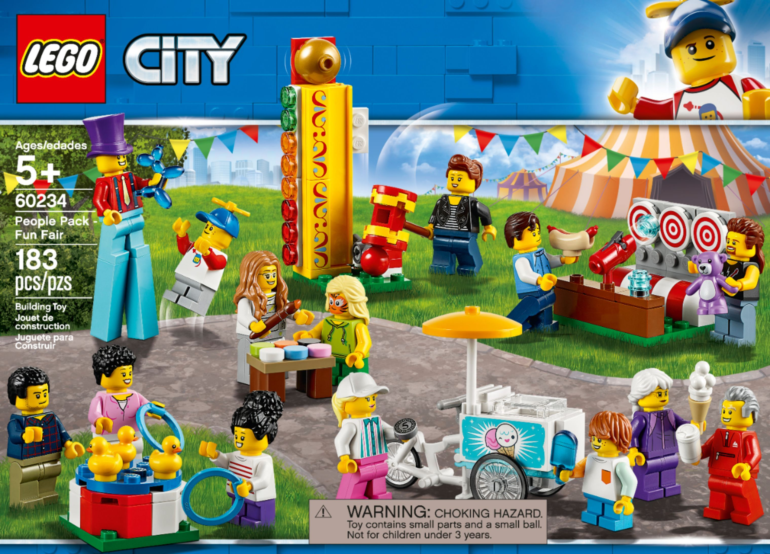 60234 Lego City Fun Fair Minifigures People Pack