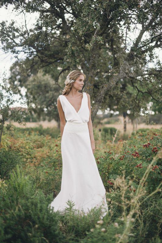 Oh que luna   Simple eloping dresses   Pinterest   Vestidos novia ...