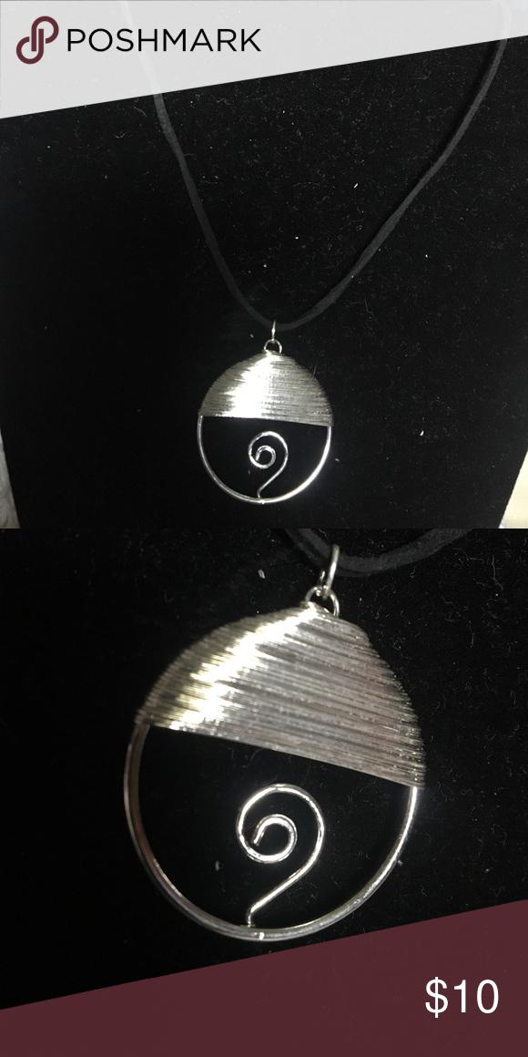 Chocker w black string NEW Silver Jewelry Necklaces