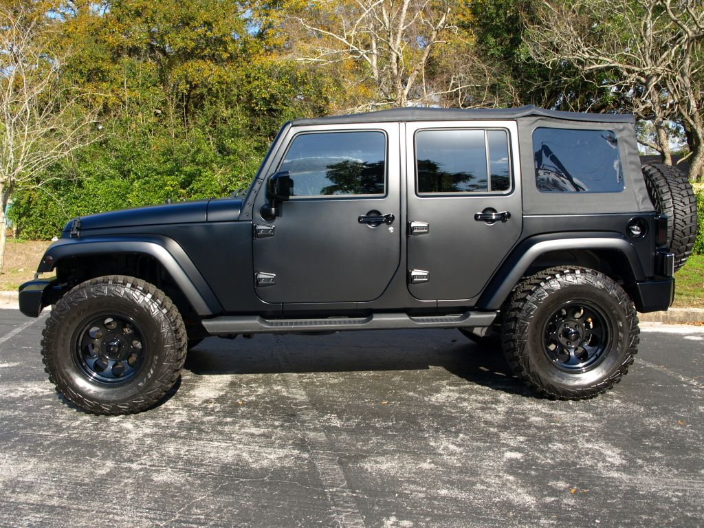 Matte Black Jeep Wrangler Or A In Green One Day I Will Have