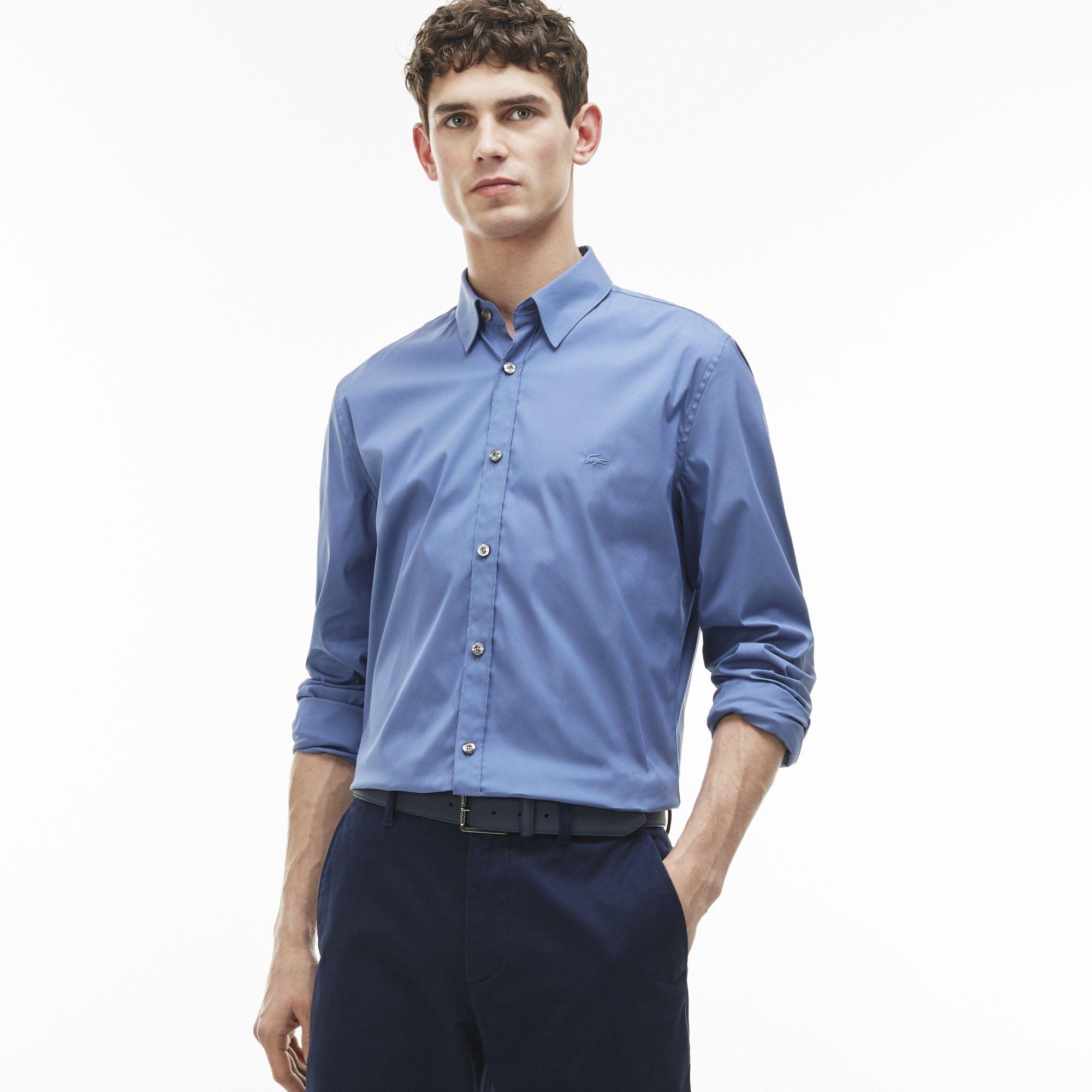 3574b0f197e5 LACOSTE Men s Slim Fit Stretch Cotton Poplin Shirt - avon.  lacoste  cloth