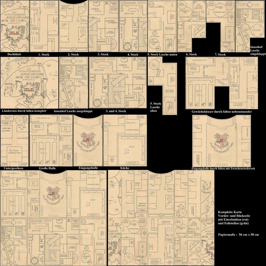 photo about Marauders Map Printable Pdf identified as Marauders Map German by means of ~r0pe02 upon deviantART Dollhouse