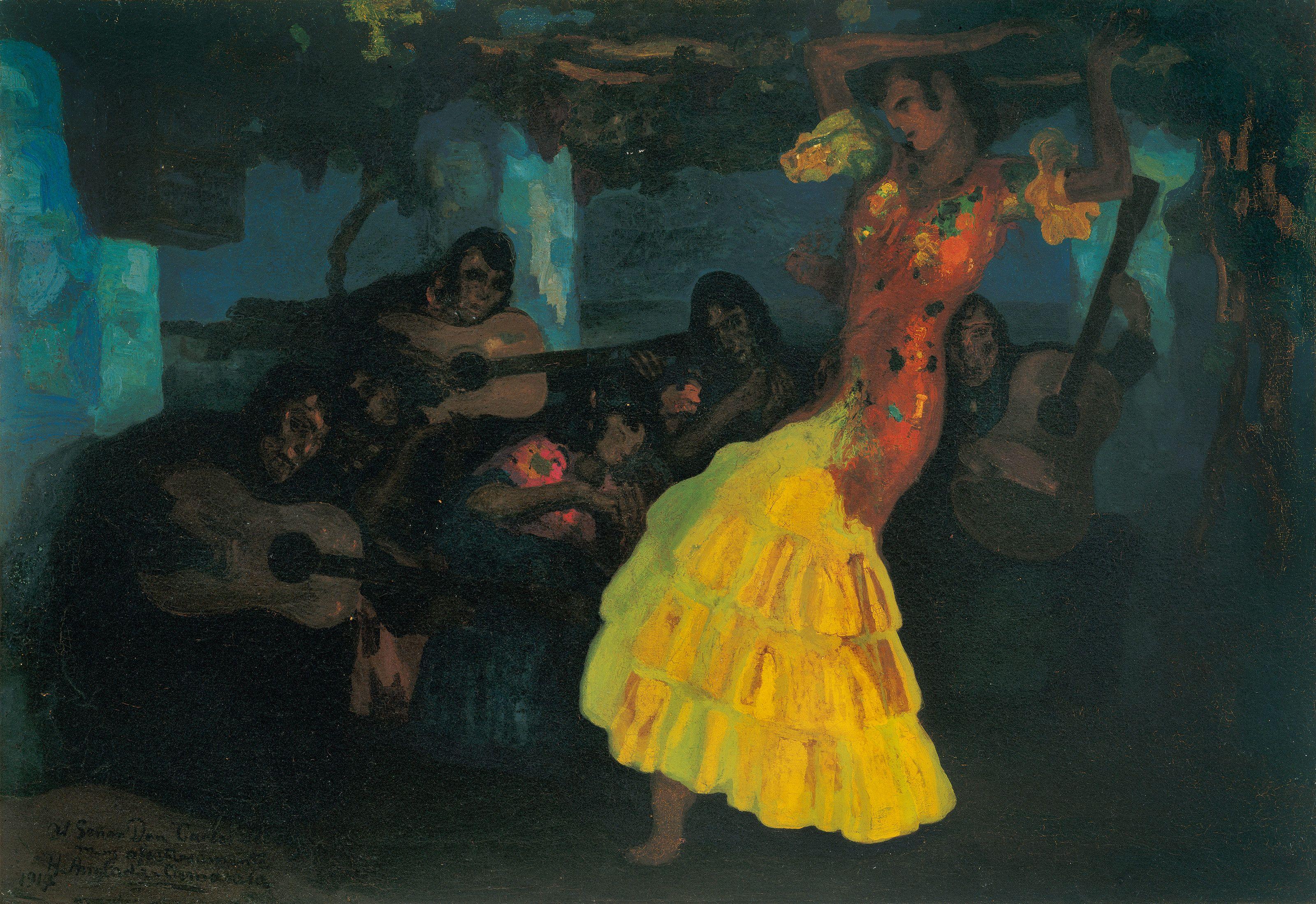 Hermen Anglada i Camarasa. Baile gitano, c. 1914-1921. Colección Carmen Thyssen-Bornemisza en préstamo gratuito al Museo Carmen Thyssen Málaga