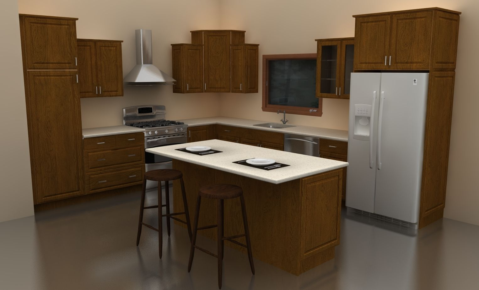 lighter cabinets and such but good layout lake house
