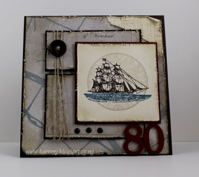 80th birthday card by karrenj cards and paper crafts at 80th birthday card by karrenj cards and paper crafts at splitcoaststampers bookmarktalkfo Gallery