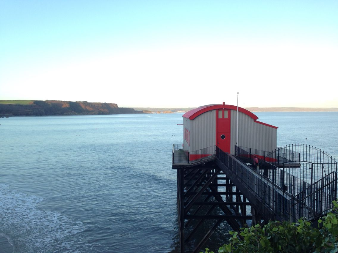 Grand design house in Tenby . Converted lifeboat house