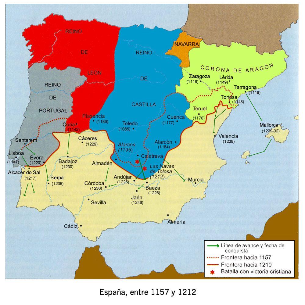 Navas De Tolosa Mapa.La Peninsula Despues De Las Navas De Tolosa Historia