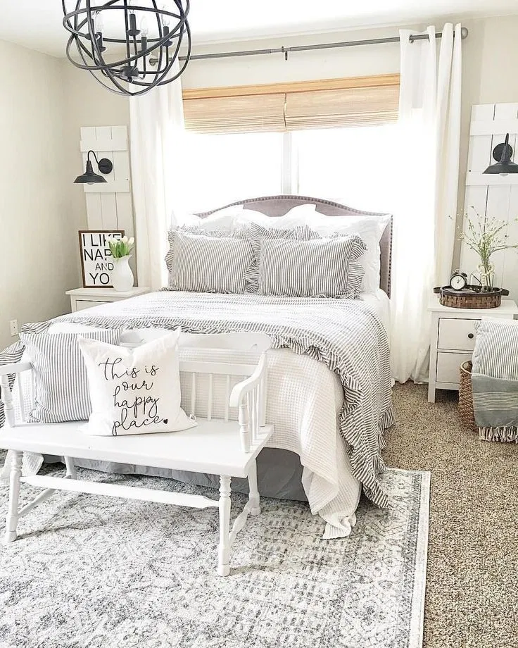Photo of 61 best bedroom decor and design ideas with farmhouse style 1 agilshome.com