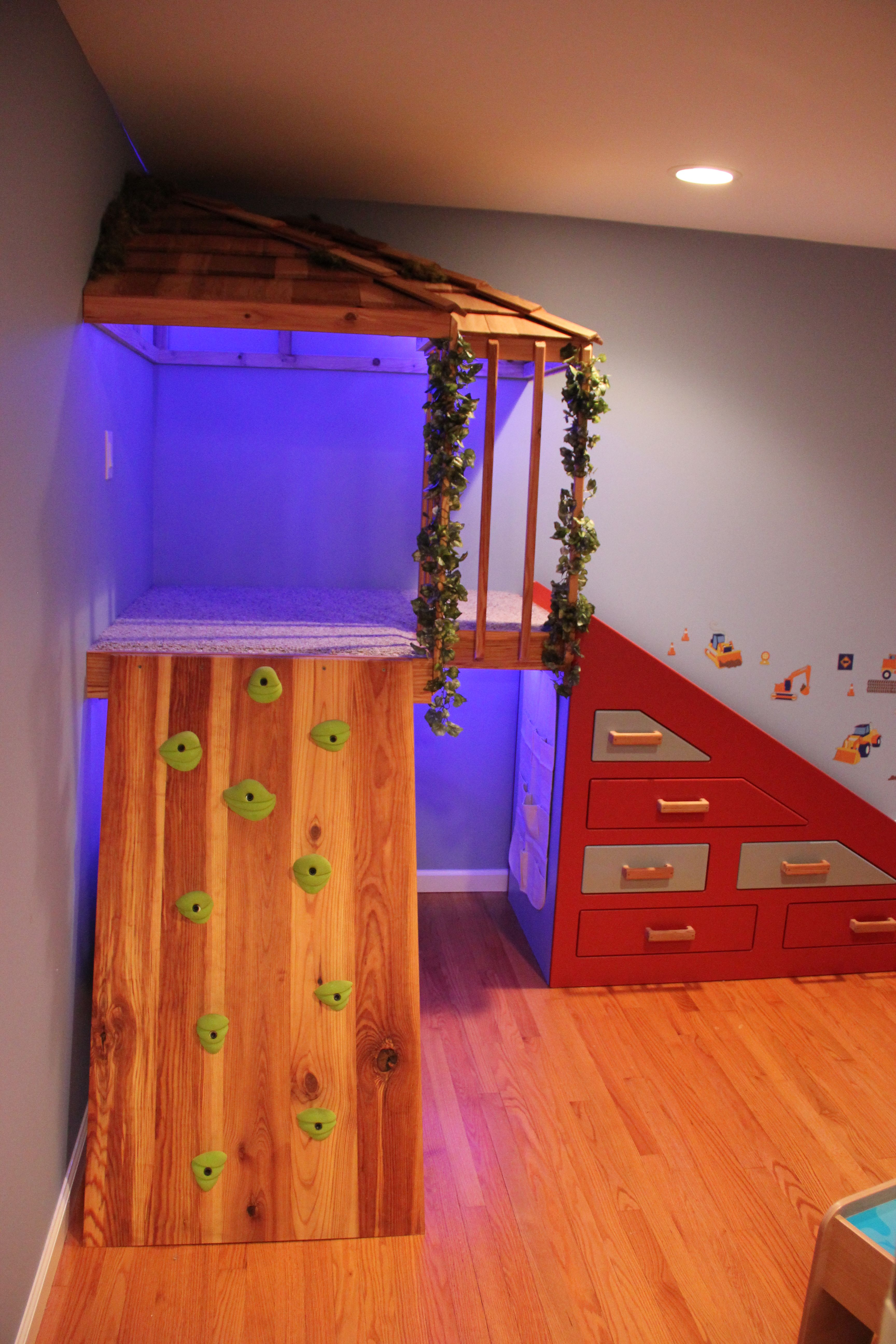 my husband built this for our boys we call it an indoor tree house its a fun thing to play on. Black Bedroom Furniture Sets. Home Design Ideas