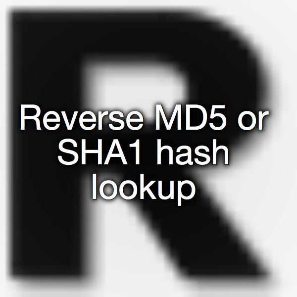 Reverse MD5 or SHA1 hash lookup   The Unpinnables   Logos