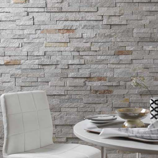 We Ve Selected A New Quartzite Stone Which Is Predominantly A Greyed Ivory Tone With A Scatt Exterior Wall Tiles Bathroom Feature Wall Tile Textured Tiles Wall