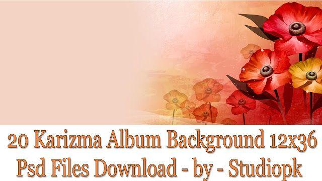20 Karizma Album Background 12x36 Psd Files Download