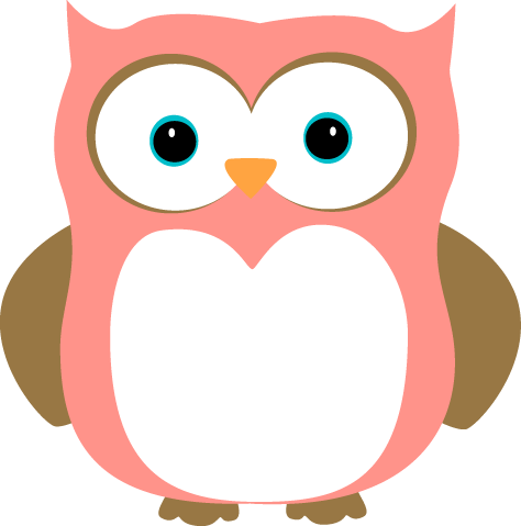 cute owls pink and brown owl clip art image pink and brown owl rh pinterest com Owl in Tree Clip Art Baby Owl Clip Art