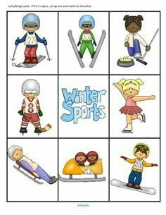 winter sports cards january pinterest olympics winter and rh pinterest com Winter Carnival winter sport clipart