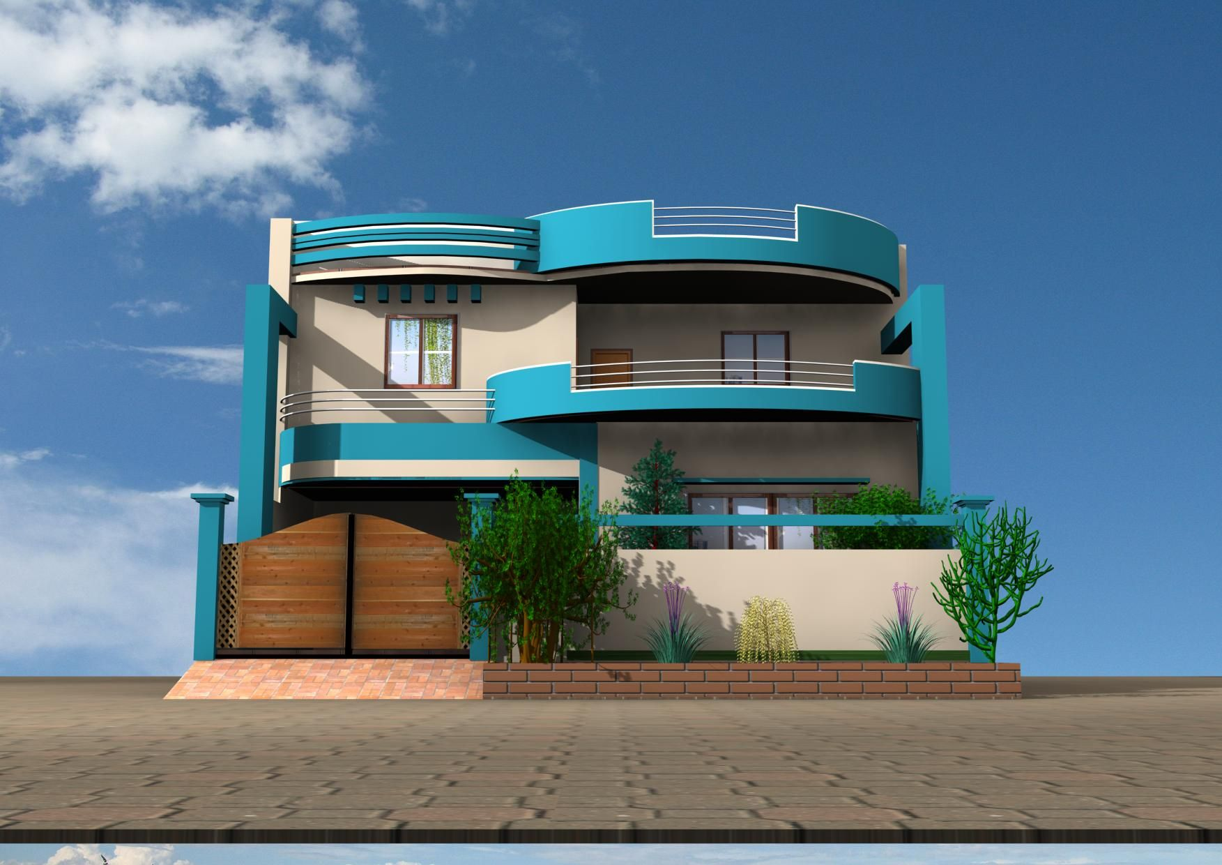 Beautiful 3D Home Design 2 By Muzammil Ahmed On DeviantArt Home Design Pictures Gallery