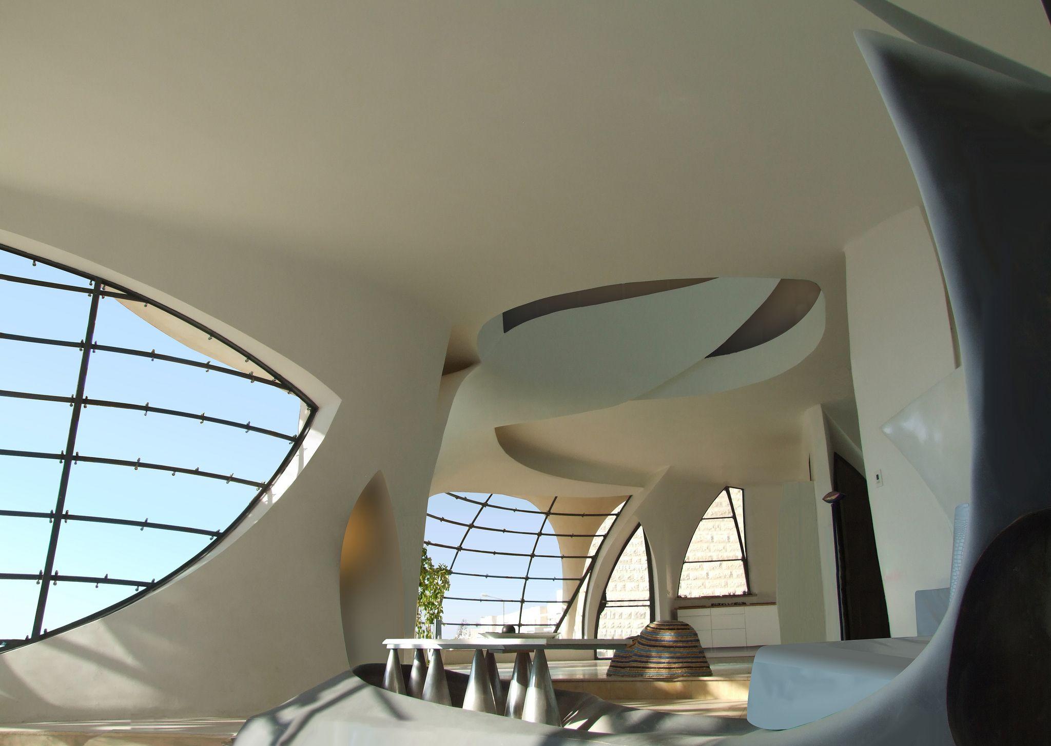 futuristic house biomorphism by ephraim henry pavie free shaped
