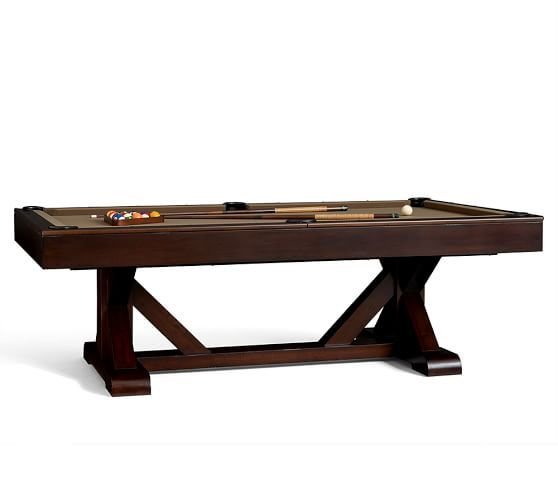 Pottery Barn Poker Table: Pottery Barn Charleston Pool Table With Table Tennis Top