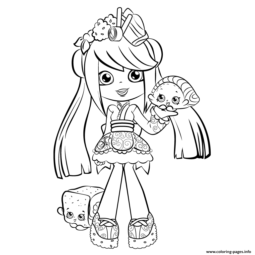 Print Cute Shopkins Shoppies Season 5 Coloring Pages 2 Color