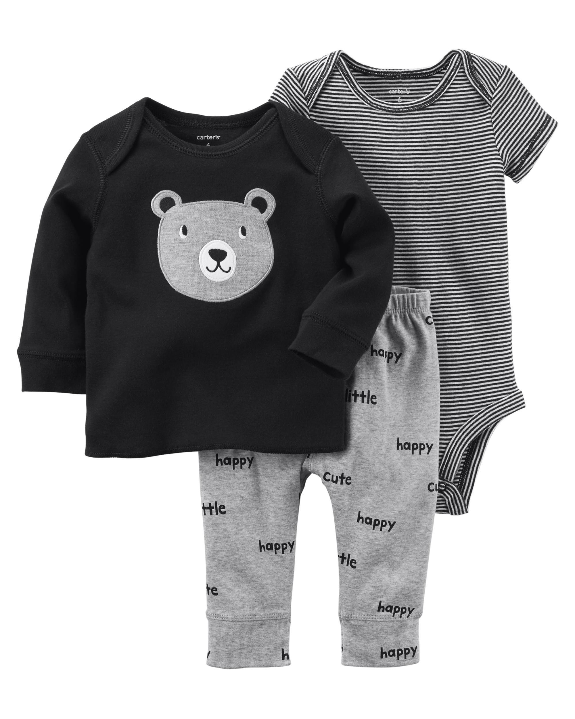 fb19f45ea 3-Piece Babysoft Bodysuit Pant Set | BABY&KIDS | Baby boy outfits ...
