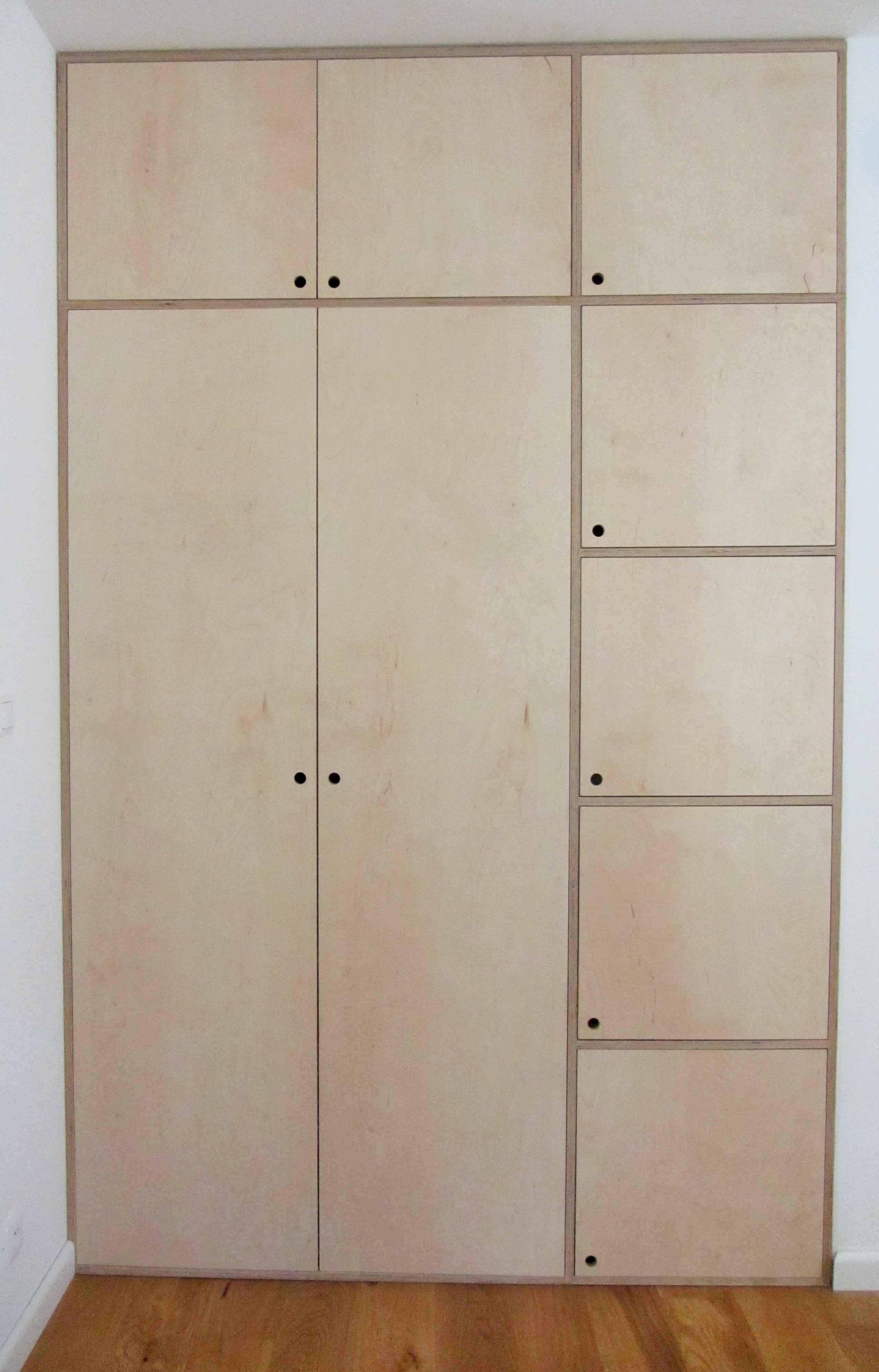 einbauschrank aus sperrholz als l sung f r den eingangsbereich ordnung pinterest schrank. Black Bedroom Furniture Sets. Home Design Ideas