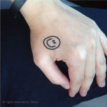 Smiley Face Tattoos Tattoos Tattoos Face Tattoos Temporary Tattoos